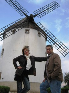 Ana, me and the windmill