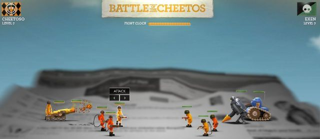 Battle of the Cheetos... some crunchy and cheesy fun to go.